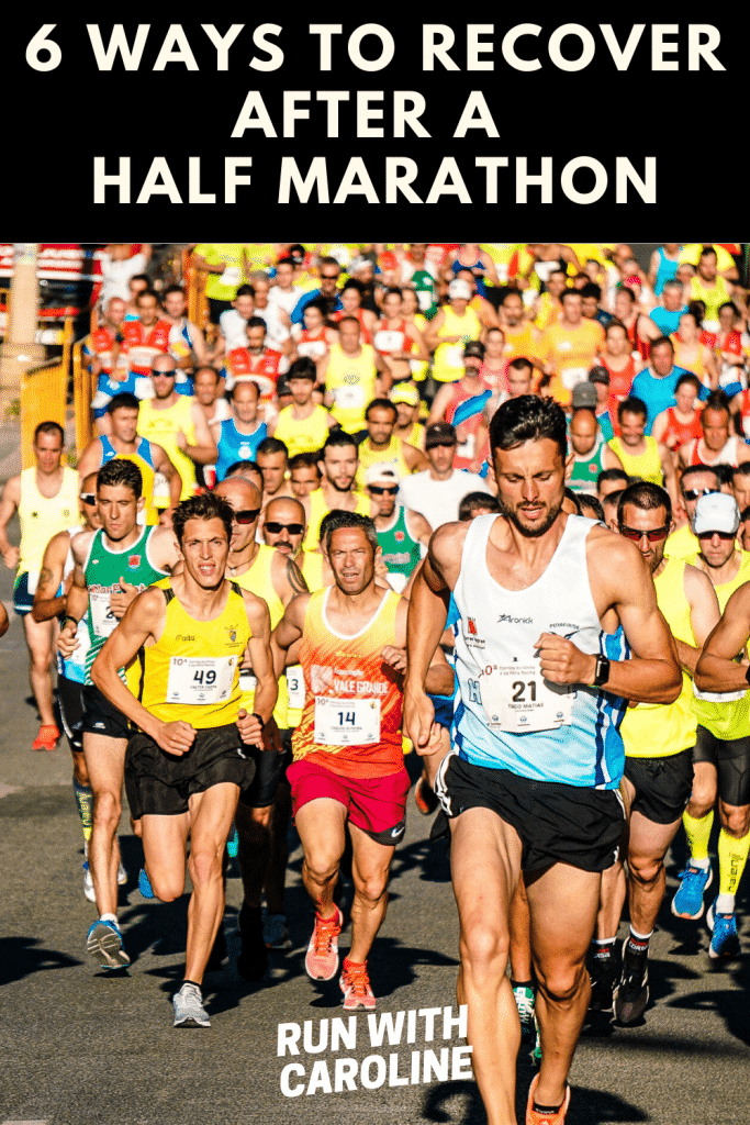 recover after a half marathon