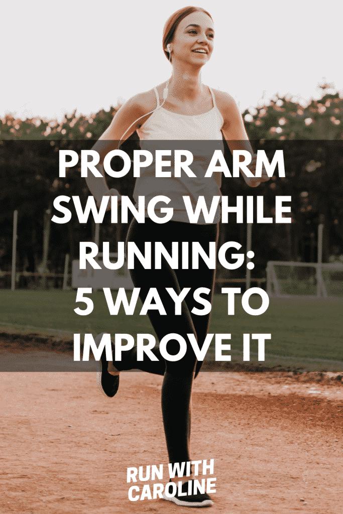 proper arm swing