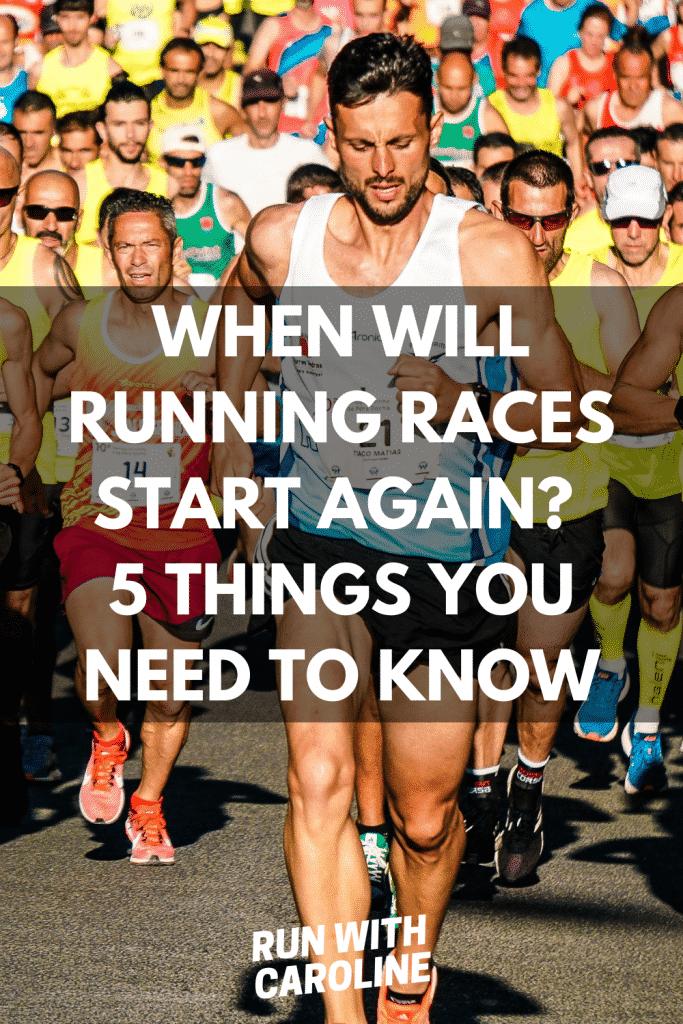 when will running races start again