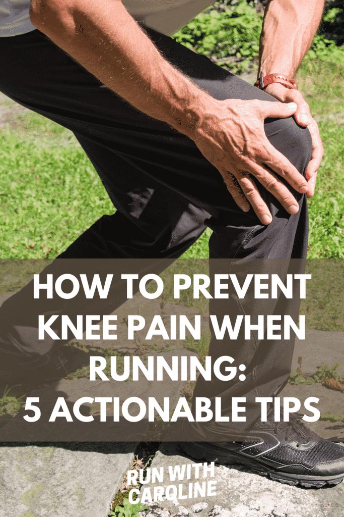 prevent knee pain when running